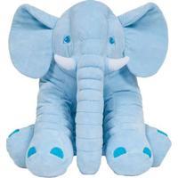Pelúcia Gigante - 60 Cm - Elefante Azul - Buba