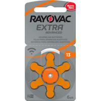 Bateria Para Aparelho Auditivo Rayovac Extra Advanced Tamanho 13 Com 6 Unidades