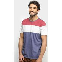 Camiseta Treebo Mescla Blocado Masculina - Masculino-Mescla+Marinho