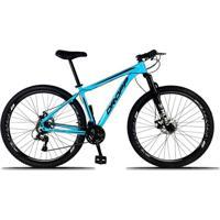 Bicicleta Aro 29 Quadro 19 Alumínio 21 Marchas Freio A Disco Mecânico Azul - Dropp