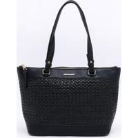 Bolsa De Ombro Wj Shopping Bag Preta - Único