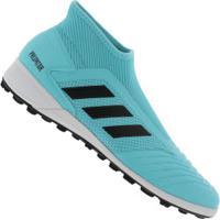 Chuteira Society Adidas Predator 19.3 Laceless Tf - Adulto - Aqua