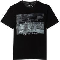 Camiseta John John Negative City (Preto, P)