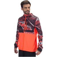 Jaqueta Corta-Vento Com Capuz Adidas Hoodie Own The Run Graphic - Masculina - Vermelho