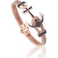 Pulseira Masculina Luxury Anchor Bangle Rose