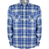 Camisa Gajang Flanelada Azul