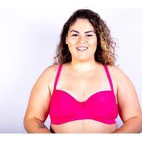 Sutiã Bojo Plus Size Gatria Reforçado Satin Feminino - Feminino-Pink