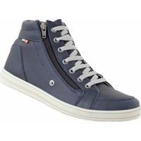 Tênis D&R Shoes Cano Curto Em Couro Masculino - Masculino-Azul