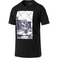 Camiseta Puma Photoprint Masculina - Masculino-Preto