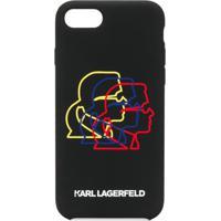 Karl Lagerfeld Capa Para Iphone 8 Bauhaus Cameo - Preto