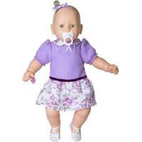 Boneca Meu Bebê Vestido 60Cm Estrela - Feminino-Lilás