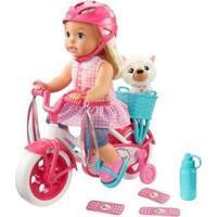 Boneca Little Mommy Meu Primeiro Passeio Com Acessórios - Feminino-Rosa