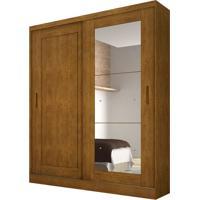 Guarda-Roupa Solteiro Com Espelho Naia Imbuia 2 Pt 3 Gv