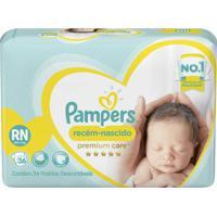 Fralda Pampers Premium Care Recém-Nascido 36 Tiras