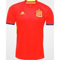 Camisa Seleção Espanha Home 2016 S/Nº Torcedor Adidas Masculina - Masculino