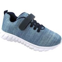 Tênis Texturizado Abstrato Com Velcro - Azul & Azul Mariluluzinha