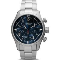 Alpina Relógio Startimer Pilot Chronograph 42Mm Com Quartzo - Blue