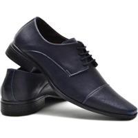 Sapato Social Ruggero Confort Masculino - Masculino-Azul