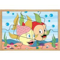 Quebra Cabeça Casal De Peixes- Vermelho & Rosa- 7Pçscarlu