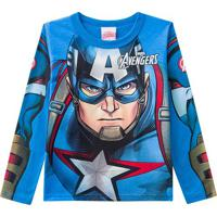 Blusa Marvel Avengersâ®- Azul & Vermelha- Kids- Bbrandili