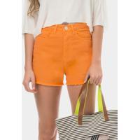 Shorts Sarja Color Califórnia Laranja Caju - Lez A Lez