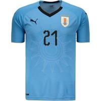 Camisa Puma Uruguai Home 2018 N°21 E. Cavani Masculina - Masculino