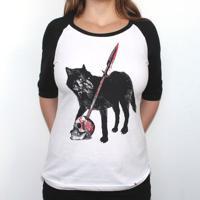 Stark - Camiseta Raglan Manga Longa Feminina