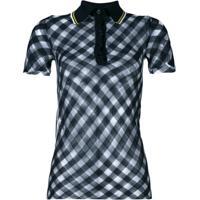 Stella Mccartney Camisa Polo Xadrez - Azul