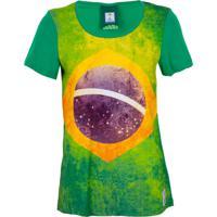 Camiseta Licenciados Copa Do Mundo Bandeira Verde