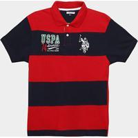 Camisa Polo Infantil U.S.Polo Assn Patch Masculina - Masculino