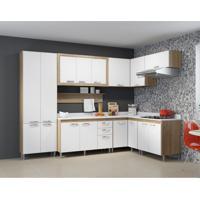 Cozinha Completa Edéia I 16 Pt 3 Gv Argila E Branco