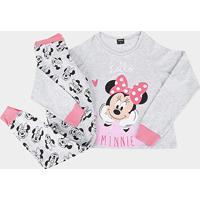 Pijama Juvenil Evanilda Disney Minnie Feminino - Feminino-Mescla