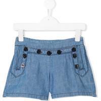 Chloé Kids Shorts Jeans - Azul