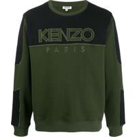 Kenzo Moletom Com Recortes De Mesh - Verde