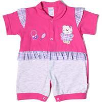 Macacão Love Baby Para Bebê Rosa Pink