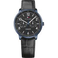 Relógio Tommy Hilfiger Masculino Couro Preto - 1791359