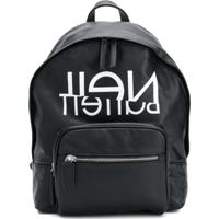 Neil Barrett Kids Logo Print Backpack - Preto
