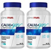 Kit 2X Calm+Zen Ltriptofano 60 Cápsulas Clinic Mais - Unissex