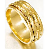 Aliança Bodas De Prata Em Ouro Diamantada - As0043