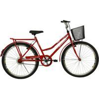 Bicicleta Athor Aro 26 V-Brake Com Cestão Venus - Unissex