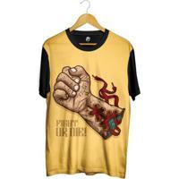 Camiseta Bsc Desenho Luva Boxe Masculina - Masculino