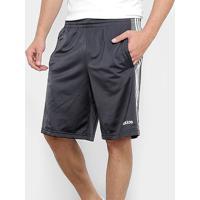 Bermuda Adidas Tric 3S Masculina - Masculino-Chumbo