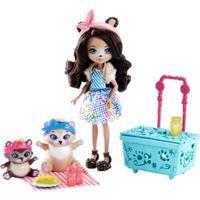 Boneca Articulada - 15 Cm - Enchantimals - Contadoras De Histórias - Paws For A Picnic - Mattel - Feminino-Incolor