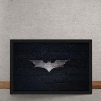 Quadro Decorativo Batman Logo Mural Minimalista Dc Comics 25X35