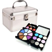 Maleta De Maquiagem Rubys Organizador Prata + Kit Maquiagem