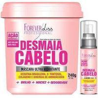 Forever Liss Desmaia Cabelo Máscara Hidratante 350G Edição Limitada + Sérum 60Ml
