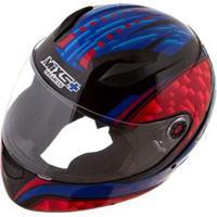 Capacete Mixs Helmets Fokker Flame - Preto/Azul