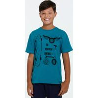 Camiseta Juvenil Estampa Skate Marisa