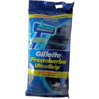 Aparelho Prestobarba Gillette Ultra Grip Com 7 Unidades.