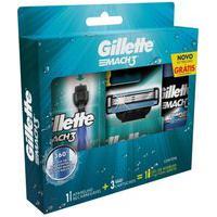 Kit Aparelho De Barbear Gillette Mach3 Acqua Grip C/ 2 Unidades + Gel De Barbear Complete Defense 72Ml